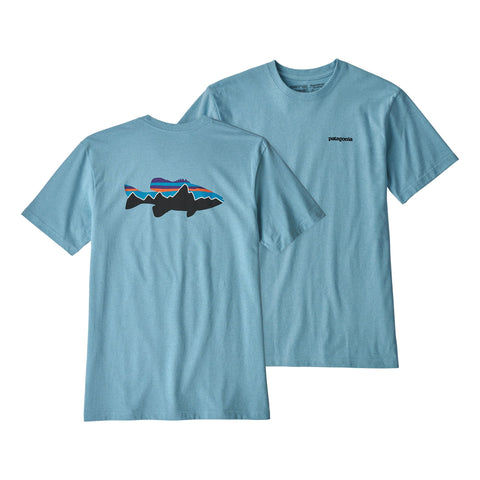 Patagonia Fitz Roy Smallmouth Bass Responsibili short sleeve tee is made from recycled materials. Shop Bennetts Clothing for a large selection of name brand outdoor clothing