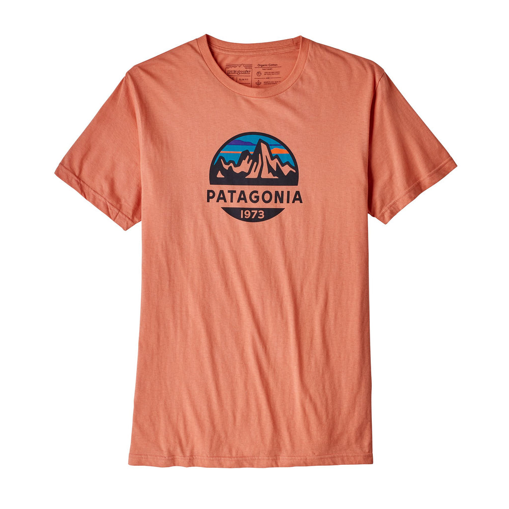 Patagonia Fitz Roy Scope Organic Slim Fit T-Shirt-Quartz Coral