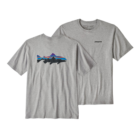 Patagonia Fitz Roy Trout Responsibili Short Sleeve T-Shirt-Forge Grey