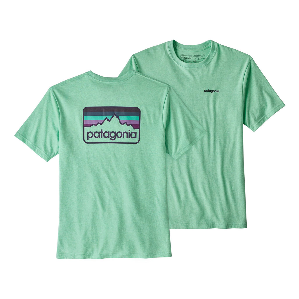 Patagonia Men's Line Logo Badge Responsibili-Tee-Bend Blue