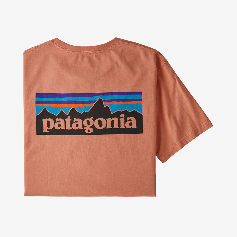 Patagonia P-6 Logo Organic t-shirts are lightweight and so comfortable. Shop Bennetts Clothing for a large selection of name brand outdoor clothing from the brand you know and love.