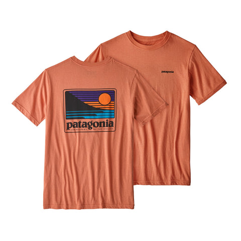 Patagonia Boys Up & Out Organic T-shirt-Quartz Coral