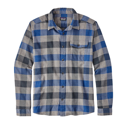 Patagonia Lightweight Upriver Flannel Long-Sleeve Shirt-Viking Blue