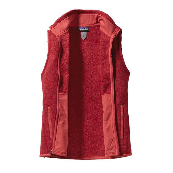 Patagonia Womens Better Sweater Fleece Vest-Sumac Red