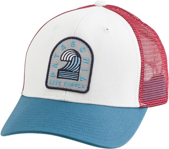 Patagonia Men's Live Simply Breaker Badge Trucker Hat [White-WHI] - Bennett's Clothing