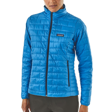 Patagonia Nano Puff Jacket for women is a must have when on the move -Shop Bennetts Clothing for a large selection of womens outerwear and boots with same day shipping