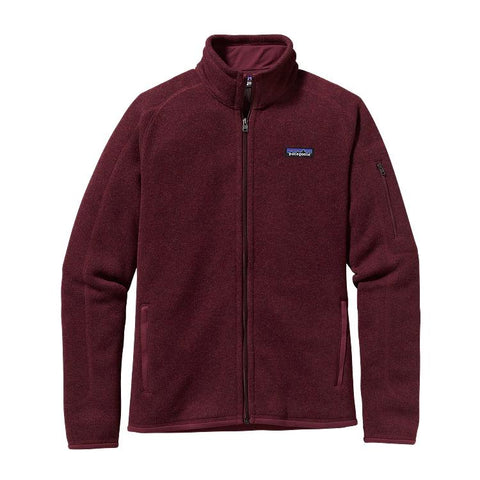 Patagonia Womens Better Sweater Jacket-Oxblood Red
