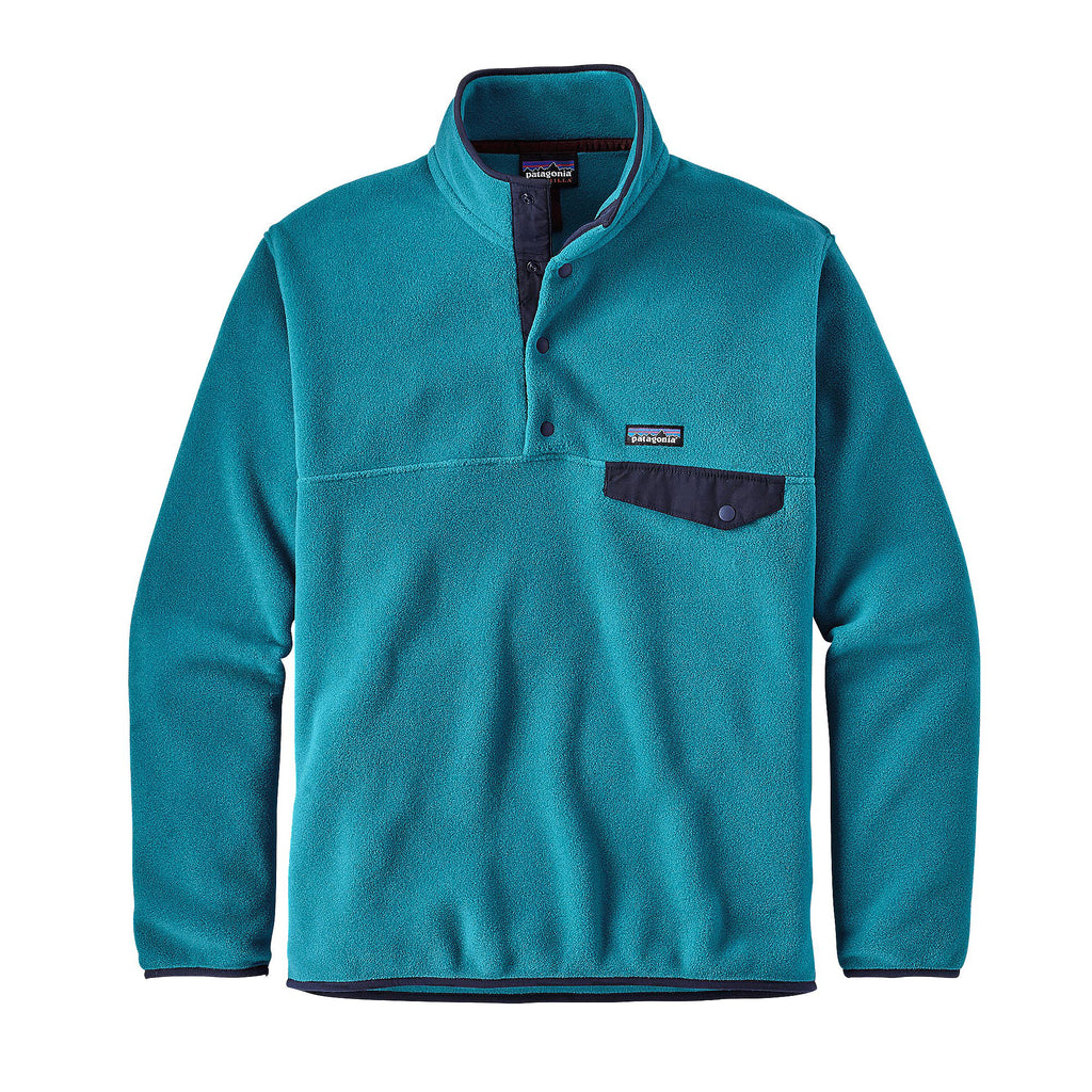 Patagonia Mens Lightweight Synchilla Snap T Pullover Filter Blue