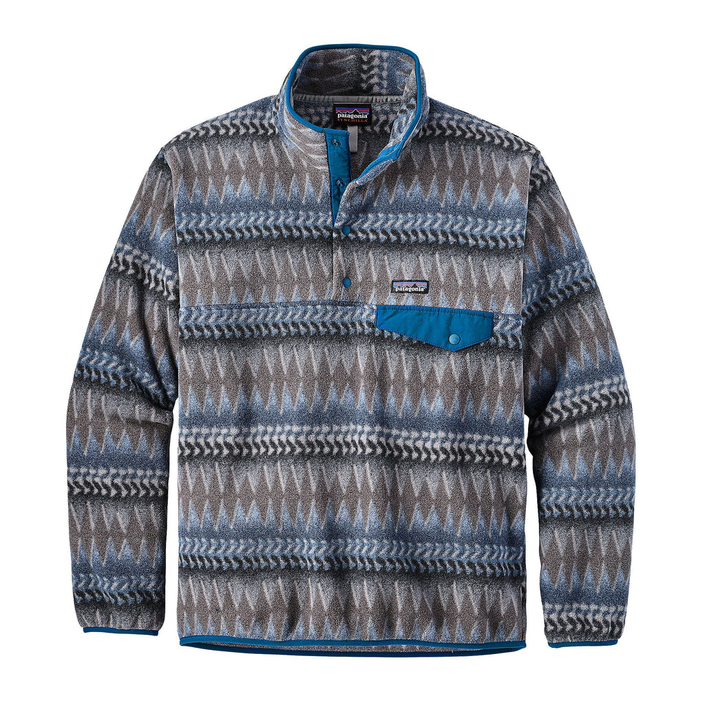 Patagonia Mens Lightweight Synchilla Snap-T Pullover-Laughing Waters