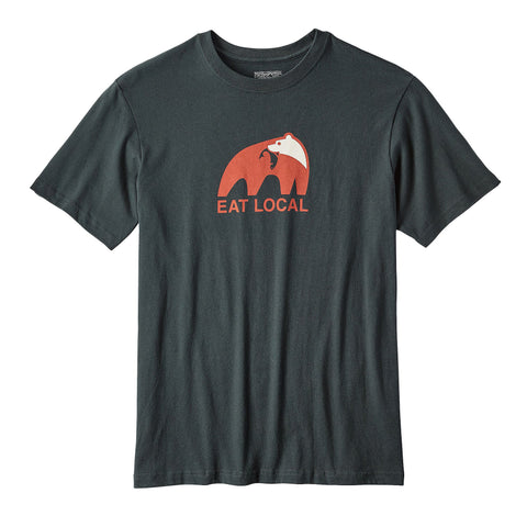 Patagonia Eat Local Upstream T-Shirt-Carbon