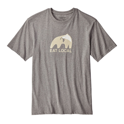 Patagonia Eat Local Upstream T-Shirt-Gravel Heather