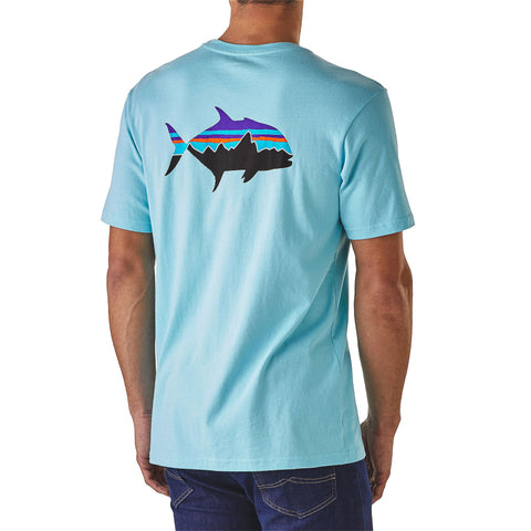 Patagonia Fitz Roy Trevally Cotton T-Shirt-Cuban Blue