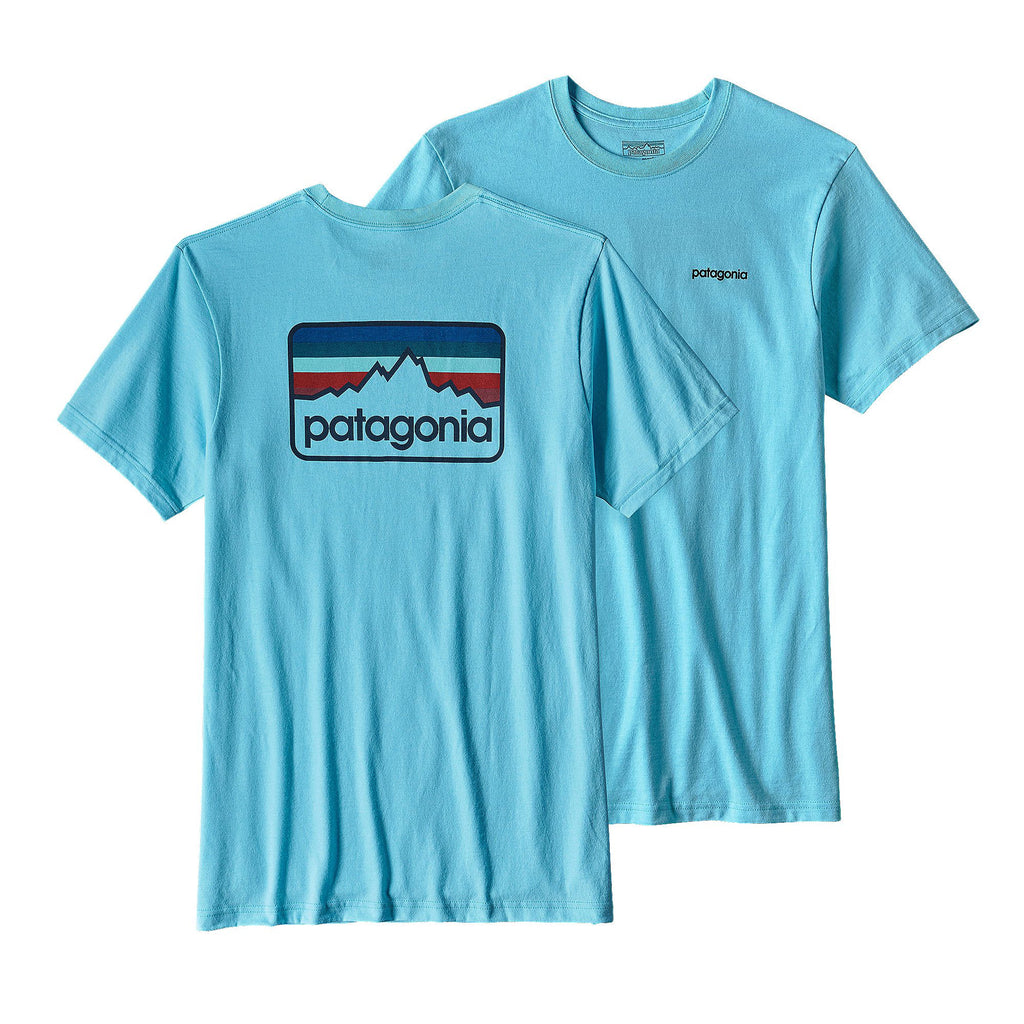 Patagonia Men's Line Logo Badge Responsibili-Tee-Cuban Blue