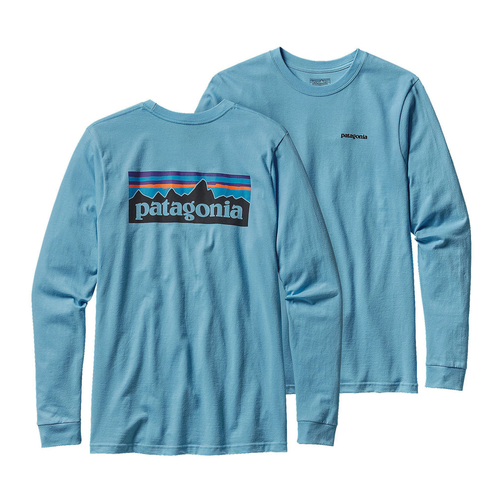 Patagonia Mens P6 Long Sleeve Logo T-Shirt-Lite Electron Blue - Bennett's Clothing