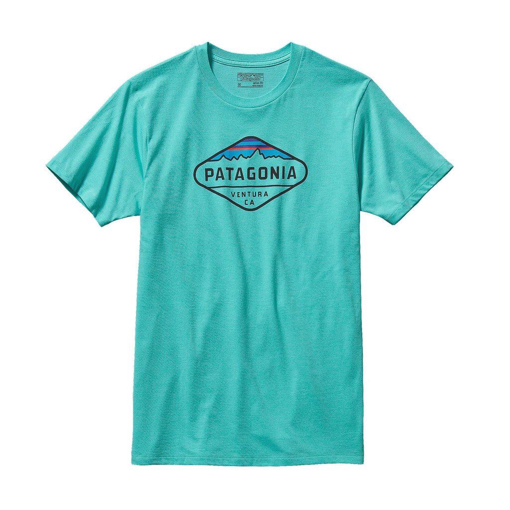Patagonia Fitz Roy Crest T-Shirt-Howling Turquoise - Bennett's Clothing