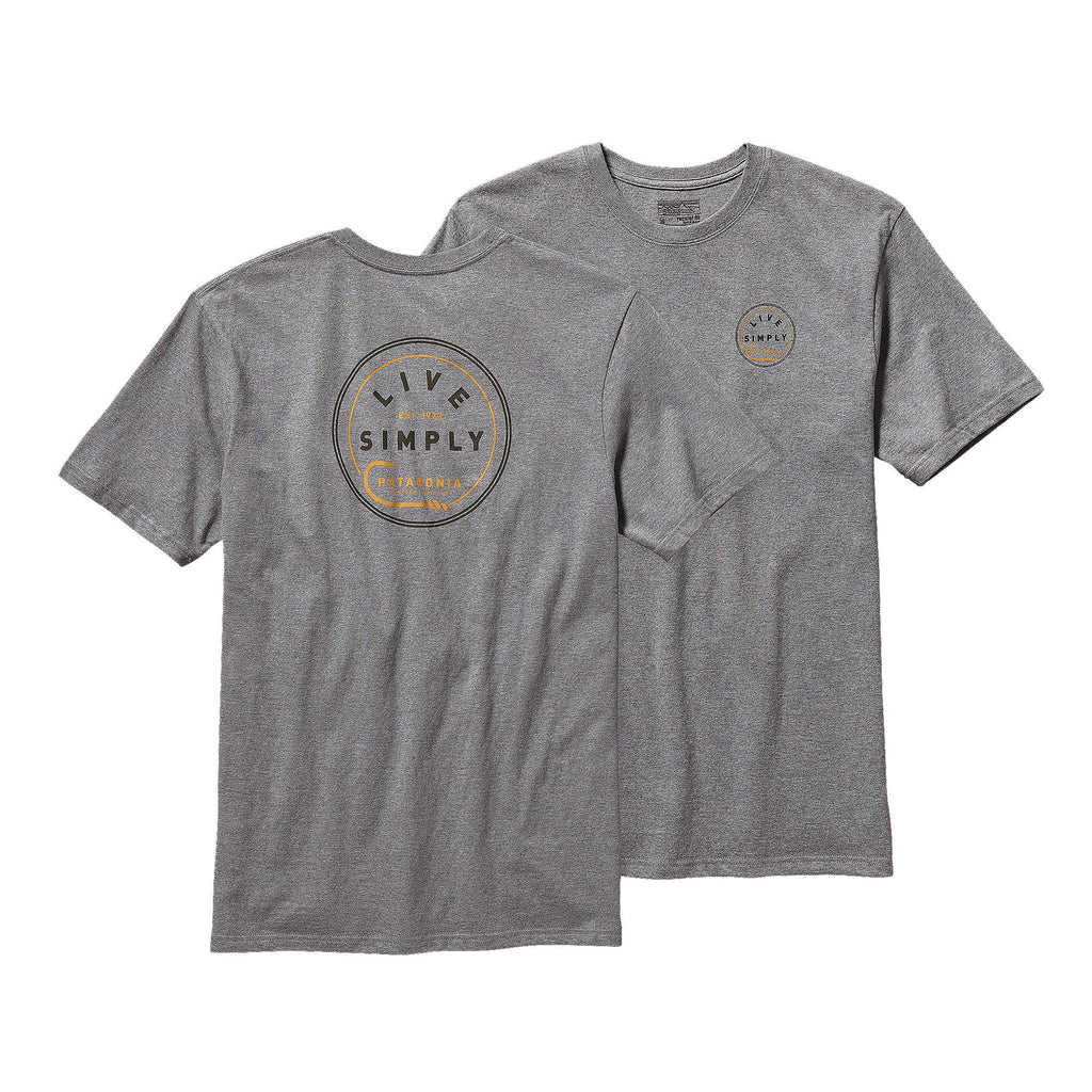Patagonia Men's Live Simply Hook Cotton T-Shirt-Gravel Heather - Bennett's Clothing