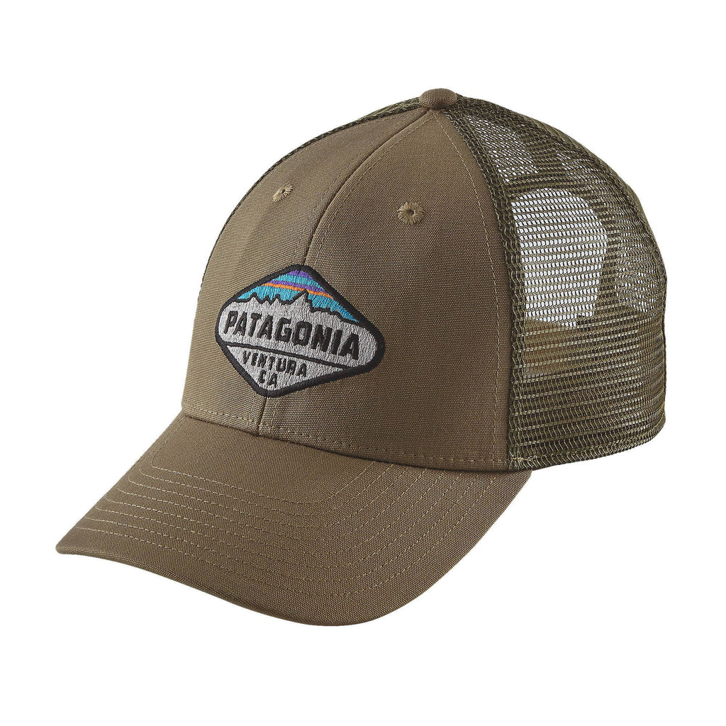Patagonia Fitz Roy Crest LoPro Trucker Hat-Ash Tan - Bennett's Clothing - 1