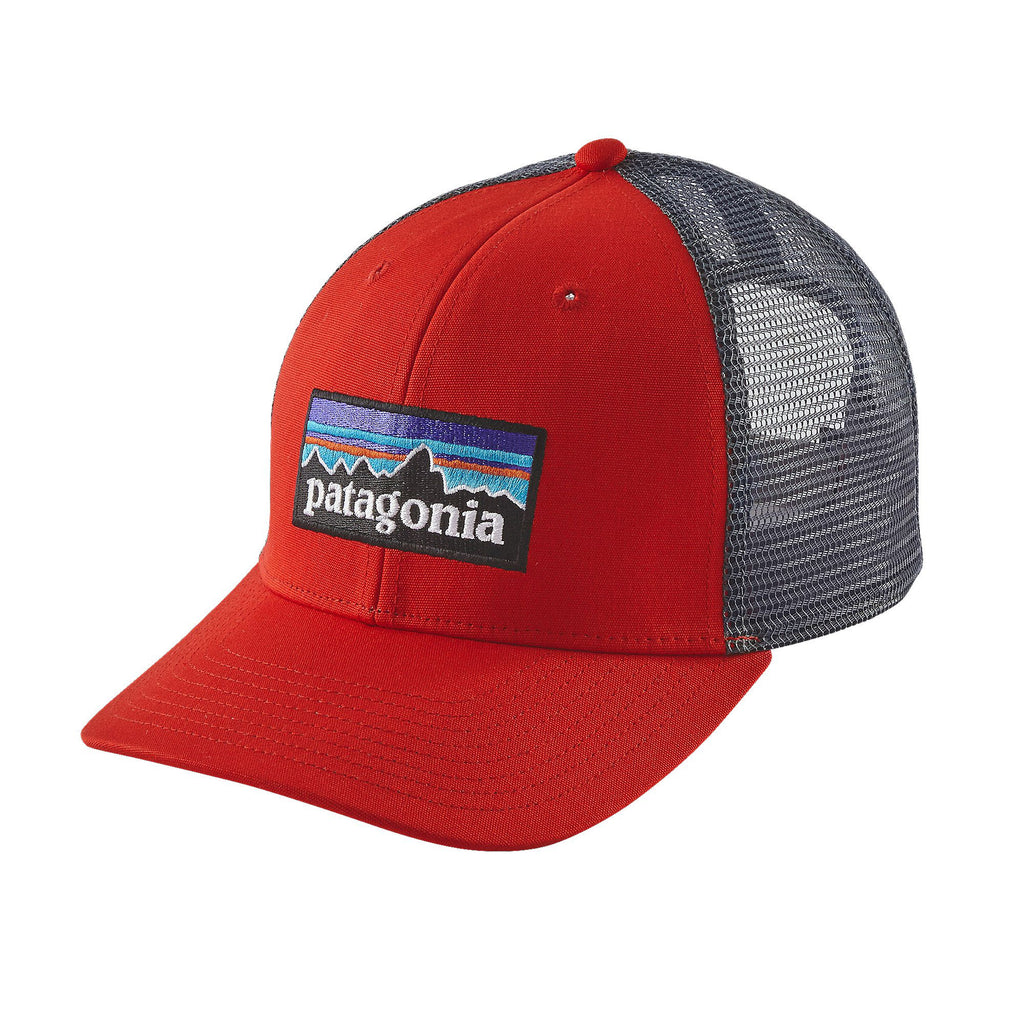 Patagonia P-6 Logo Trucker Hat-French Red - Bennett's Clothing