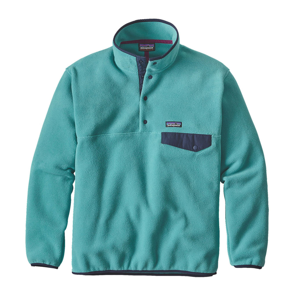 Patagonia Mens Synch Snap-T Pullover-Mogul Blue - Bennett's Clothing
