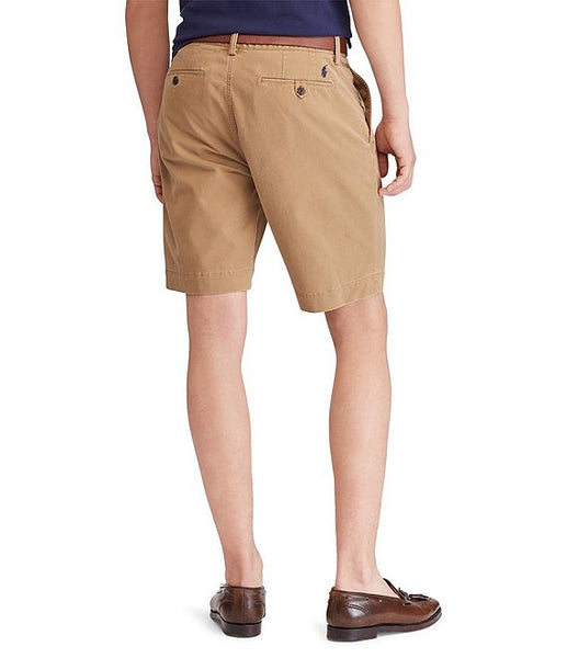 "Polo Men's Stretch Classic Fit 9"" Flat-Front Short-New Ghurka"
