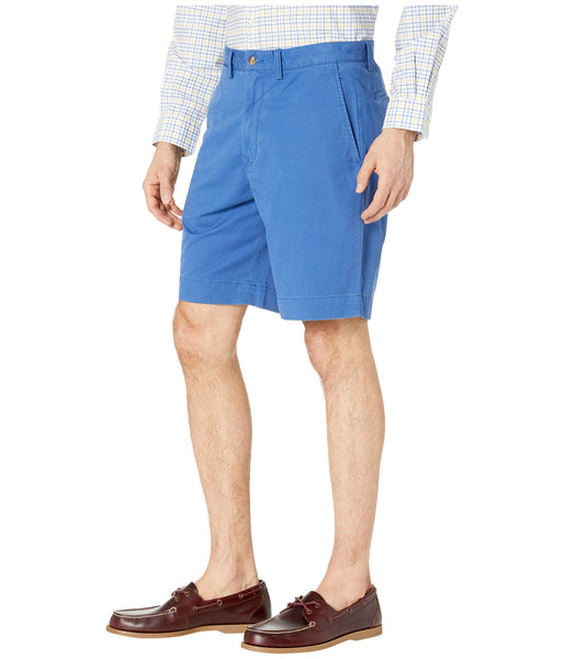 "Polo Men's Stretch Classic Fit 9"" Flat-Front Short-Royal Blue"