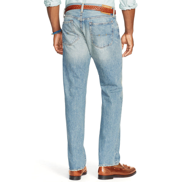 Polo Ralph Lauren Mens Hampton Straight Fit Jean-Lightweight Dayton Wash - Bennett's Clothing - 2