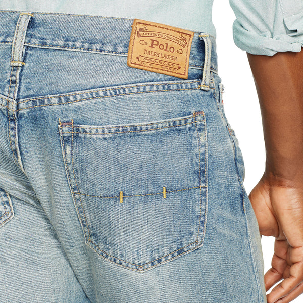 Polo Ralph Lauren Mens Hampton Straight Fit Jean-Lightweight Dayton Wash - Bennett's Clothing - 3
