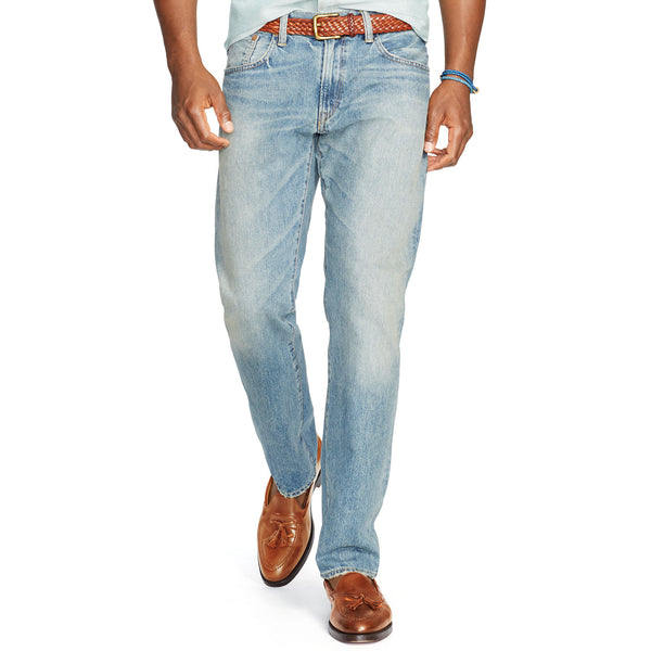 Polo Ralph Lauren Mens Hampton Straight Fit Jean-Lightweight Dayton Wash - Bennett's Clothing - 1