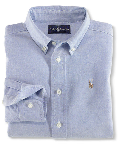 Ralph Lauren Boy's Blake Oxford button down-Blue - Bennett's Clothing