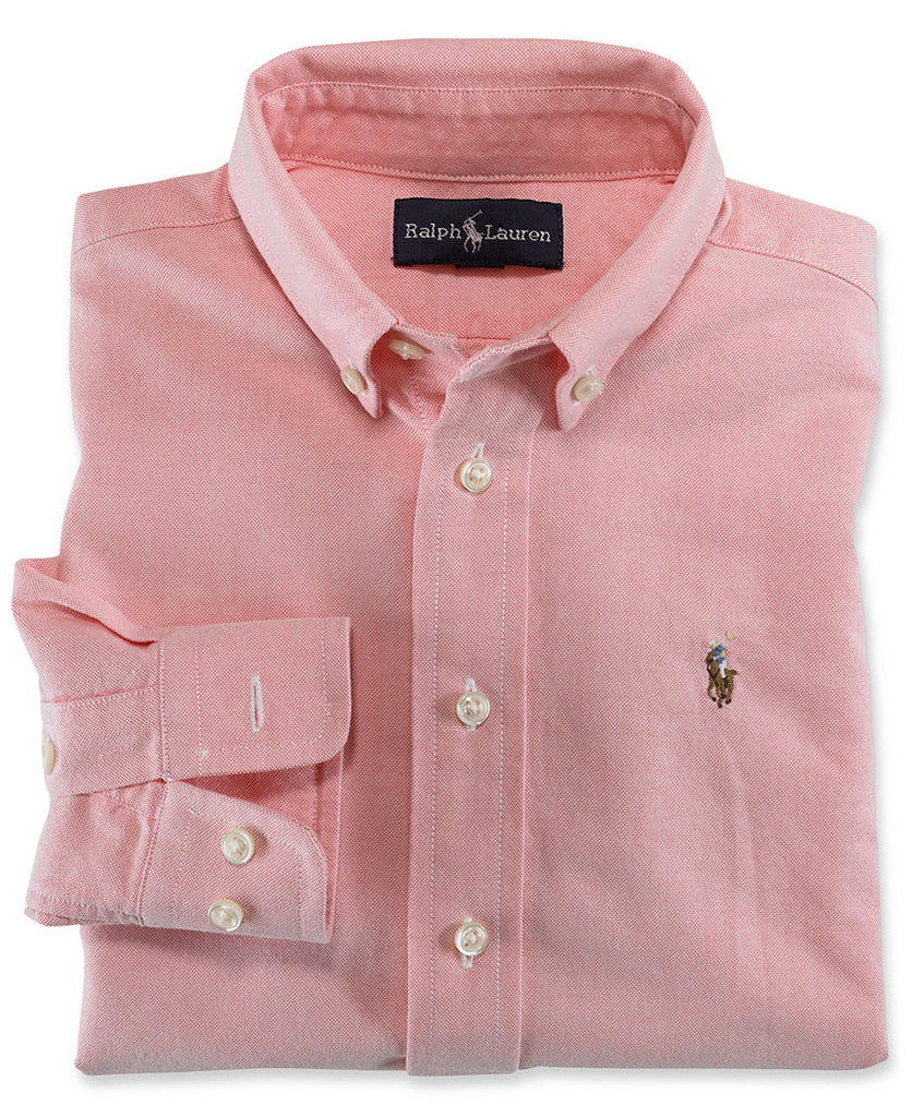 Ralph Lauren Boy's Blake Oxford button down-Pink - Bennett's Clothing