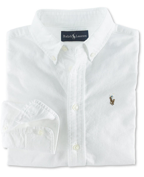 Ralph Lauren Boy's Blake Oxford button down-White - Bennett's Clothing - 2