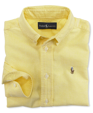 Ralph Lauren Boy's Blake Oxford button down-Yellow - Bennett's Clothing