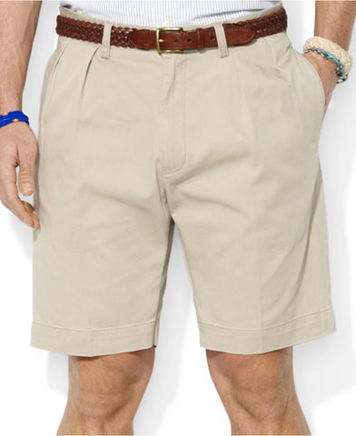 "Polo Ralph Lauren 9"" Pleated Short-Khaki - Bennett's Clothing - 1"