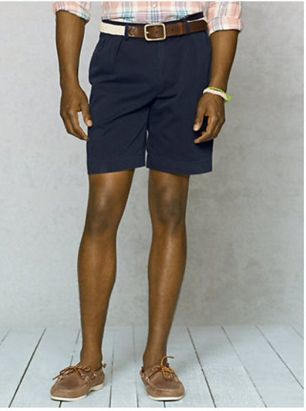 "Polo Ralph Lauren 9"" Pleated Short-Navy - Bennett's Clothing - 2"