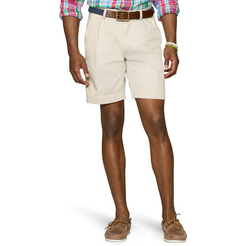 "Polo Ralph Lauren 9"" Pleated Short-Stone - Bennett's Clothing - 1"