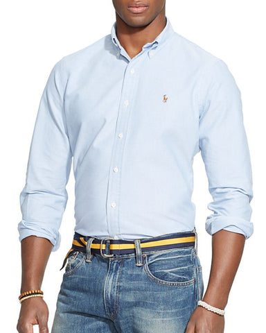 Polo Ralph Lauren Oxford Button Down-Blue - Bennett's Clothing - 1