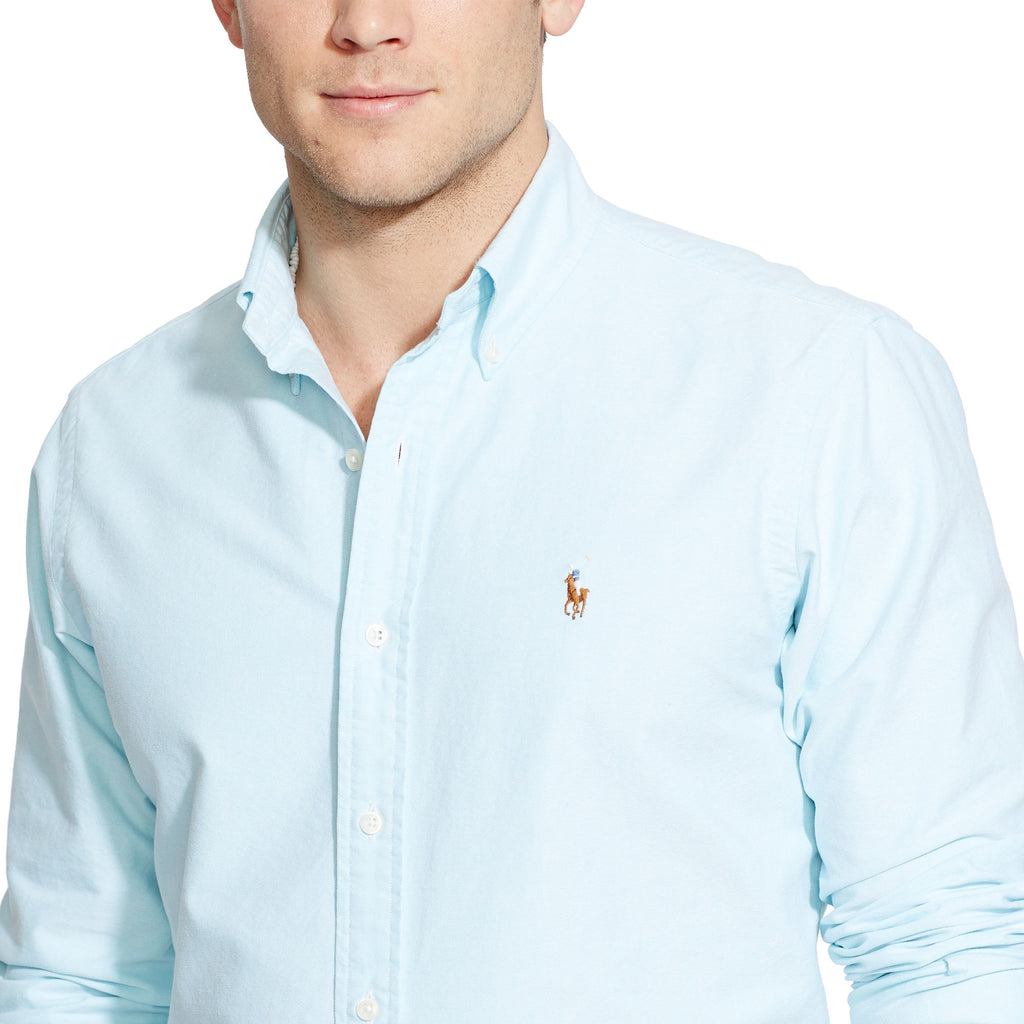 741f369bab45 ... Polo Ralph Lauren Oxford Button Down-Aegean Blue - Bennett s Clothing -  ...