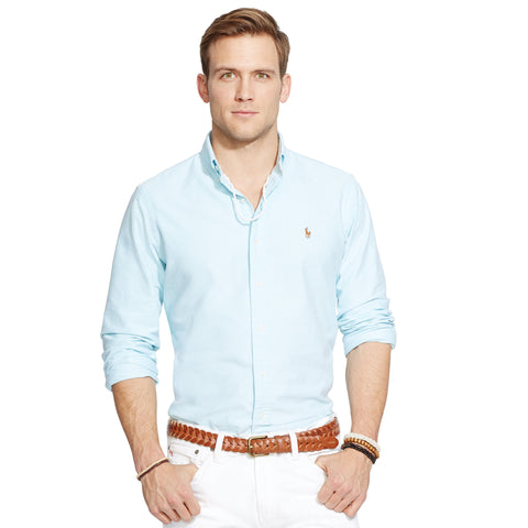 Polo Ralph Lauren Oxford Button Down-Aegean Blue - Bennett's Clothing - 1
