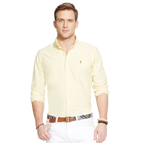 Polo Ralph Lauren Oxford Button Down-Yellow - Bennett's Clothing - 1
