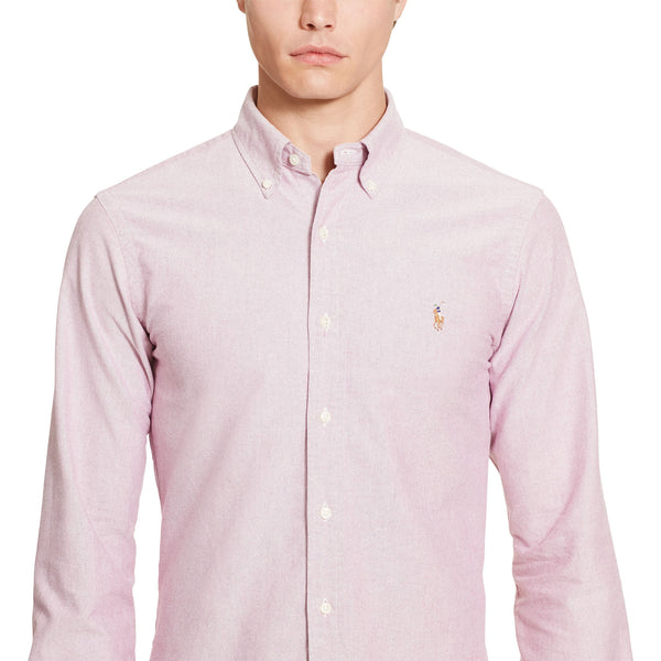 Polo Ralph Lauren Oxford Button Down-Crimson - Bennett's Clothing - 3
