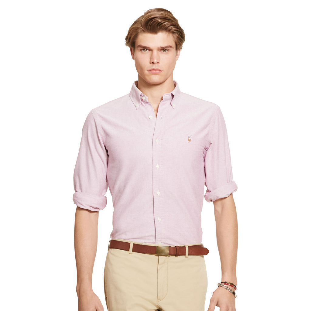 Polo Ralph Lauren Oxford Button Down-Crimson - Bennett's Clothing - 1