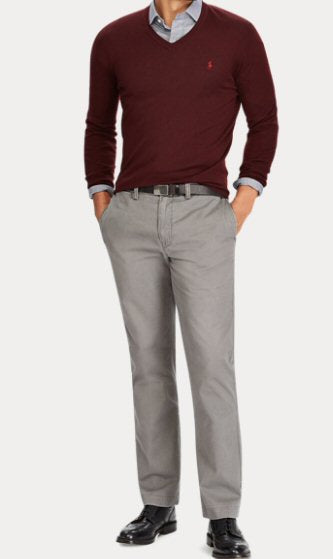 Polo Ralph Lauren Men's Chino Pant in Grey -Shop Bennetts Clothing for a large selection of name brand menswear