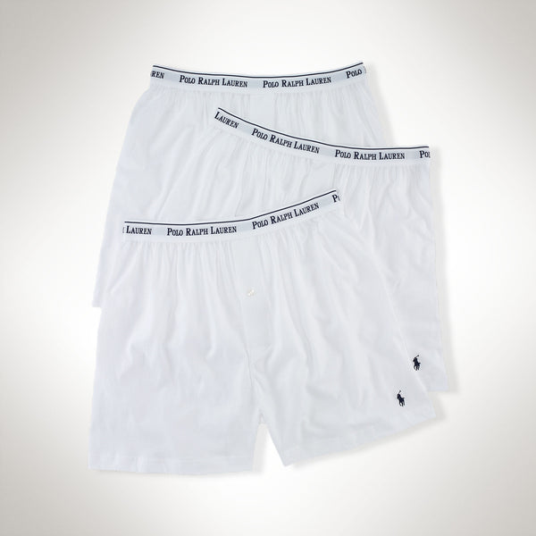 Ralph Lauren Polo Men's Cotton Boxers/3-Pack-White - Bennett's Clothing - 2