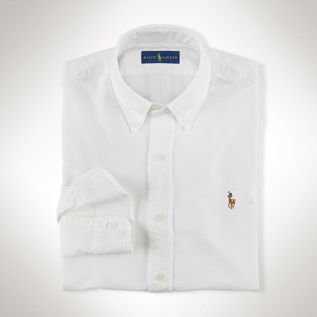 Polo Ralph Lauren Oxford Button Down-White - Bennett's Clothing