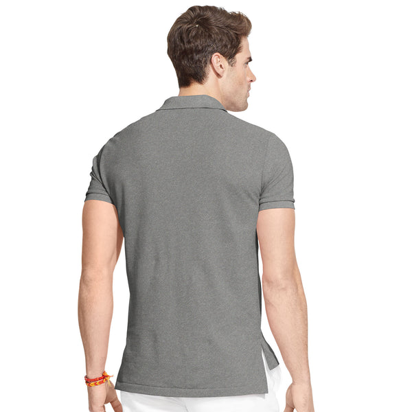 Polo Men's Classic-Fit Mesh-Heather Grey - Bennett's Clothing - 3
