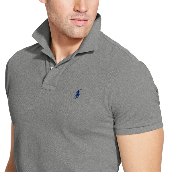 Polo Men's Classic-Fit Mesh-Heather Grey - Bennett's Clothing - 2