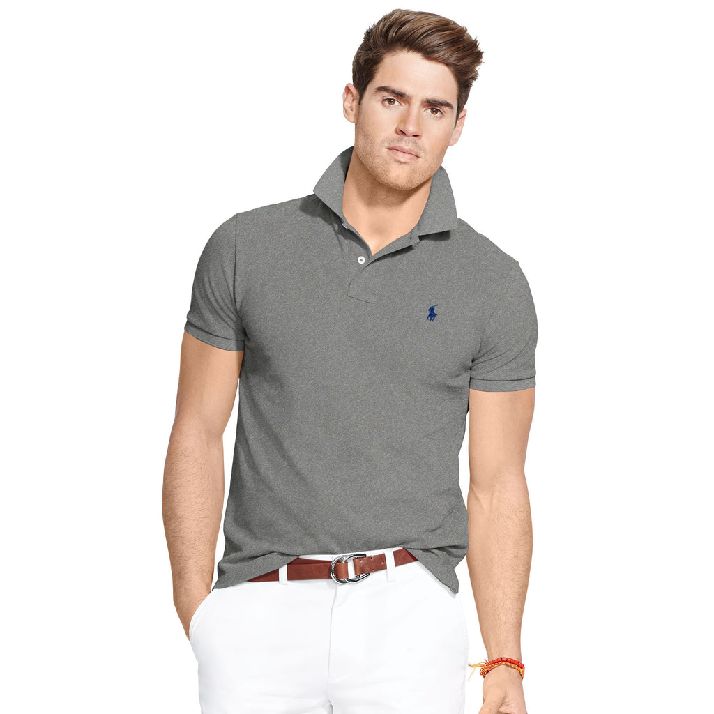 Polo Men's Classic-Fit Mesh-Heather Grey - Bennett's Clothing - 1