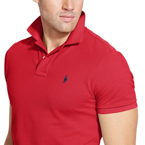 Polo Men's Classic-Fit Mesh-Red - Bennett's Clothing - 3