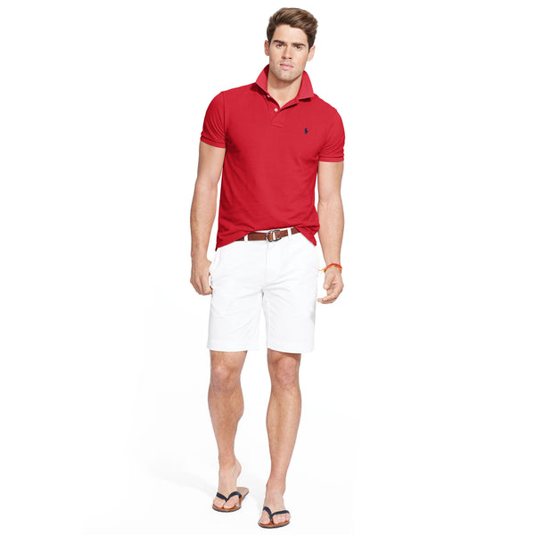 Polo Men's Classic-Fit Mesh-Red - Bennett's Clothing - 4