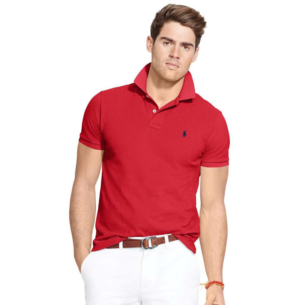 Polo Men's Classic-Fit Mesh-Red - Bennett's Clothing - 1